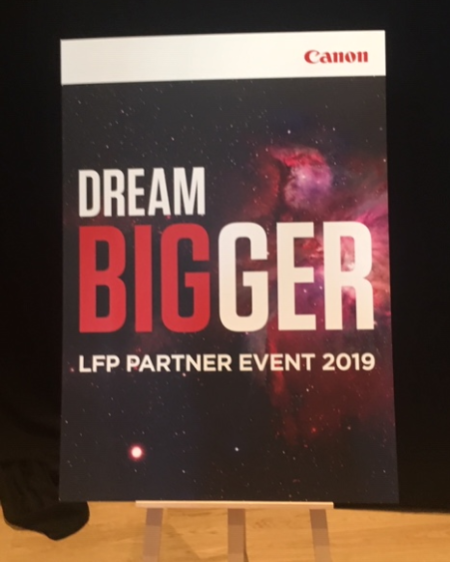 Canon Dream Bigger logo from European Congress 2019 Andaz Hotel, Vienna